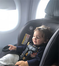 car seat on airplane safety