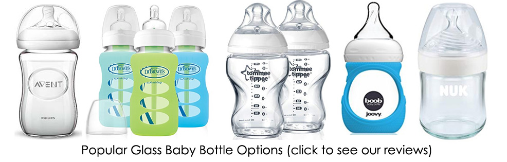 glass baby bottles options