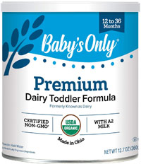 best organic formula babys only premium organic with DHA