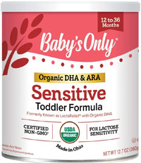 best organic formula babys only sensitive organic