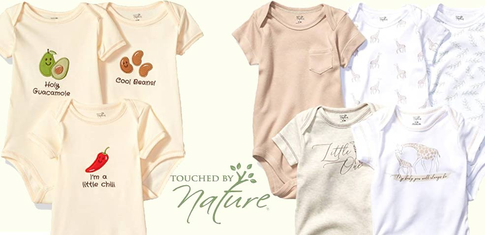 best gender-neutral baby gifts touched by nature onesies