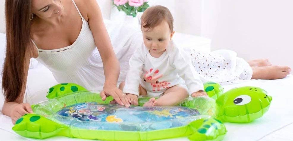 best gender-neutral baby gifts turtle water playmat