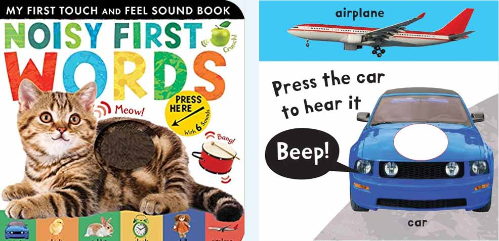 best one-year old boy gifts noisy first words book