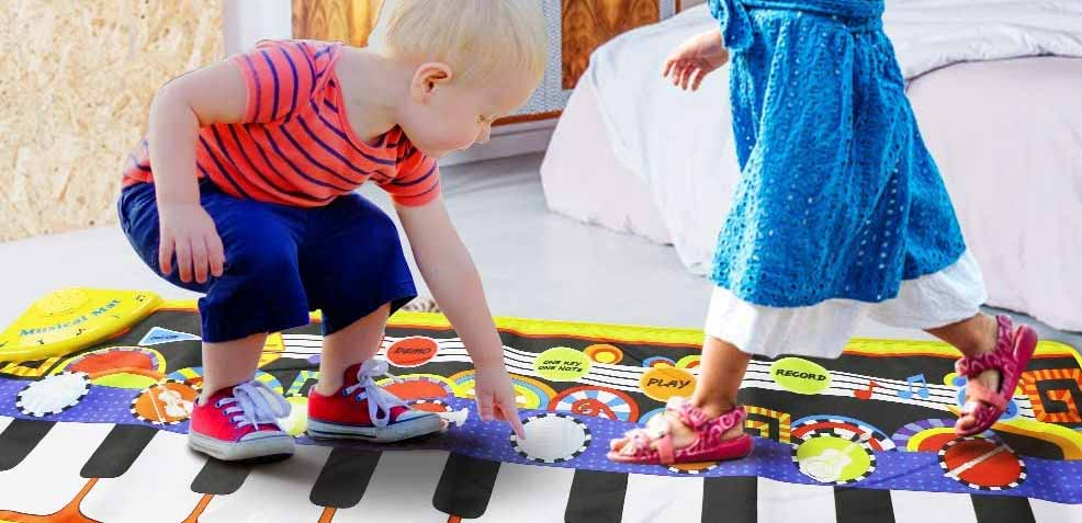 best one-year old boy gifts musical piano mat
