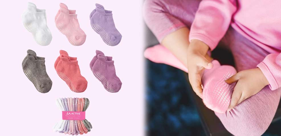 best one-year old girl gifts laactive grip ankle socks