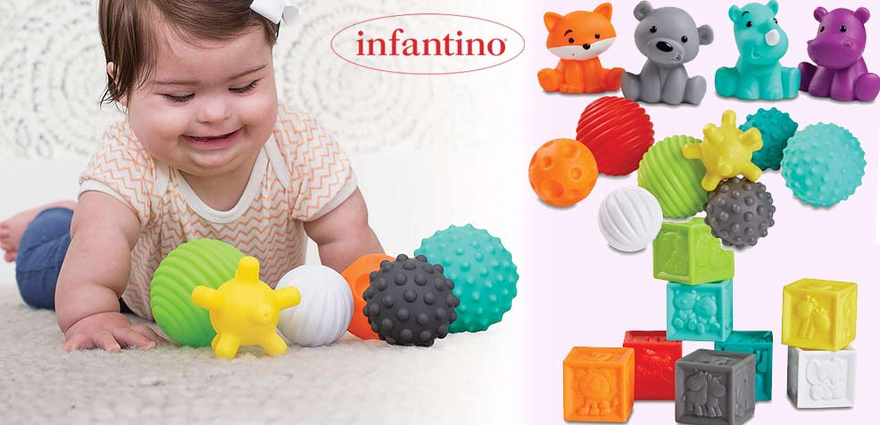 best one-year old girl gifts infantino sensory balls blocks buddies