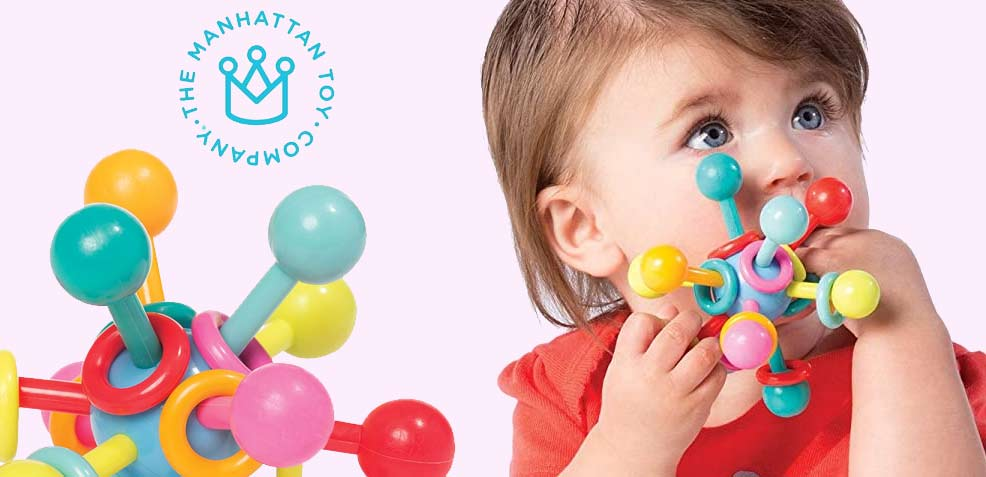 best one-year old girl gifts manhattan toy company teething rattle