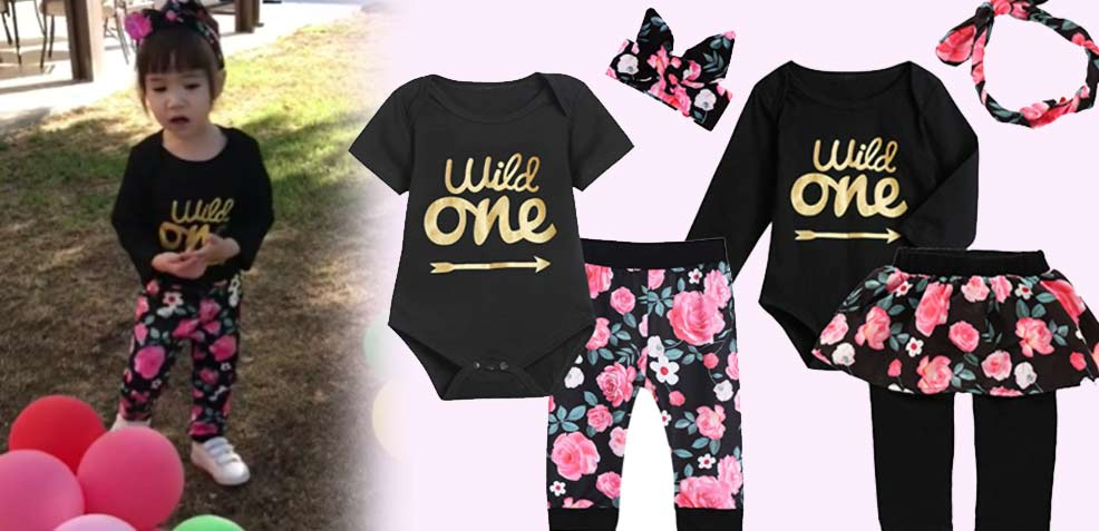 best one-year old girl gifts wild one outfits