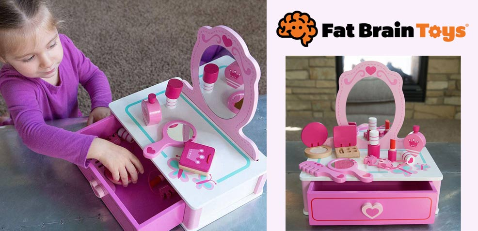 best three-year old girl gifts Fat Brain Toys Makeup Station