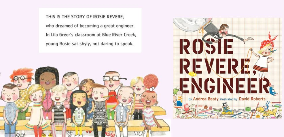 best three-year old girl gifts Rosie Revere Engineer Books