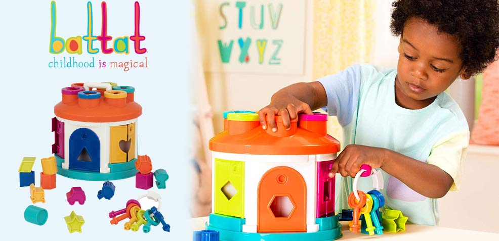 best two-year old boy gifts battat shape sorter house