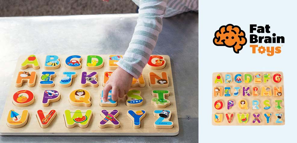 best two-year old boy gifts fat brain toys alphabet puzzle
