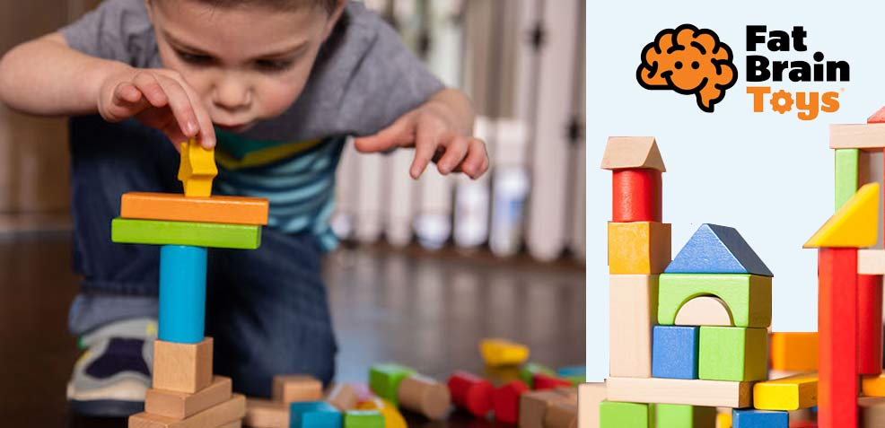 best two-year old boy gifts fat brain toys wooden blocks