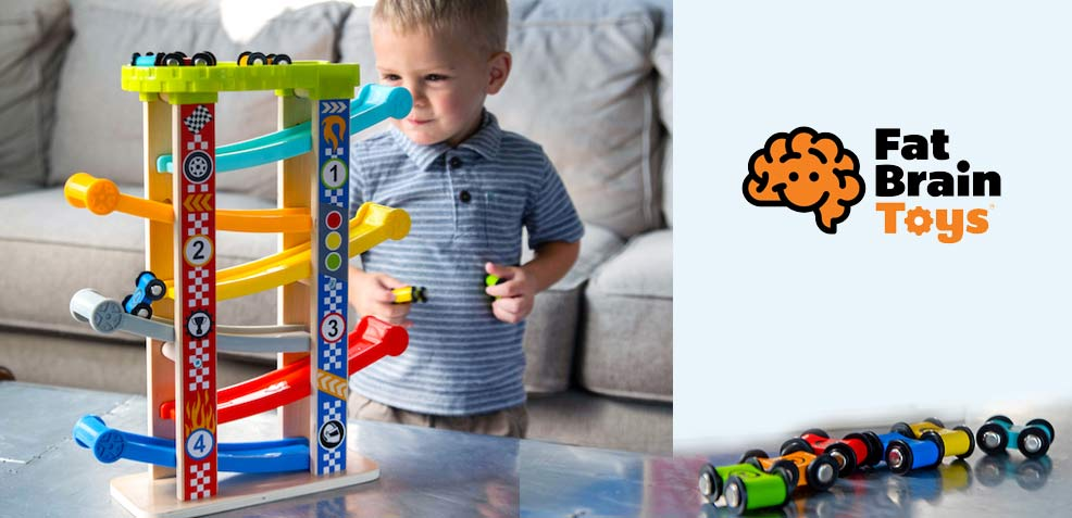 best two-year old boy gifts fat brain toys zigzag racetrack