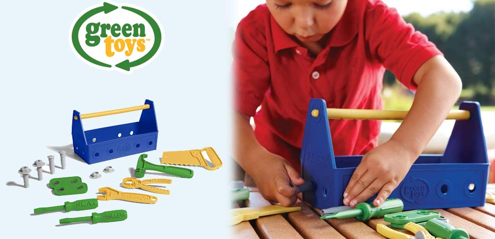 best two-year old boy gifts green toys tool set