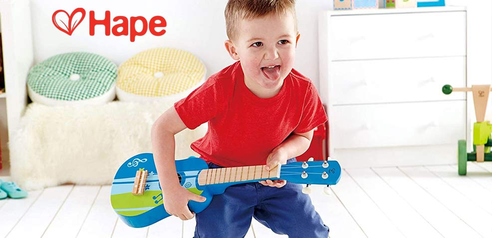 best two-year old boy gifts hape first guitar toy