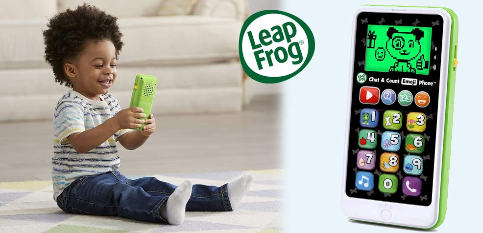 best two-year old boy gifts leapfrog chat count emoji phone