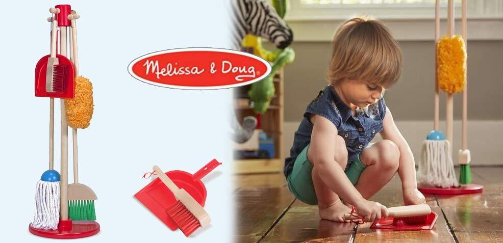 best two-year old boy gifts melissa and doug dust sweep mop set