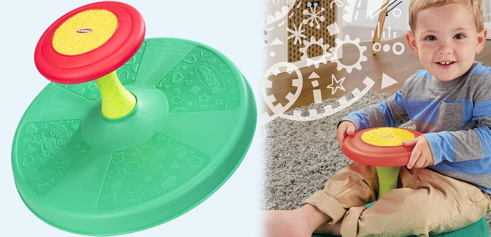best two-year old boy gifts playskool sit and spin