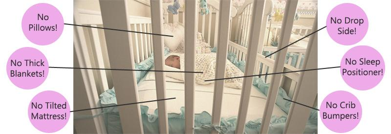 crib what not to do baby safety risks