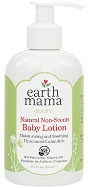 best baby lotion earth mama natural