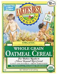 best organic baby food earths best cereal