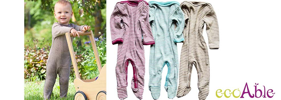 ecoable base layer footie pajamas