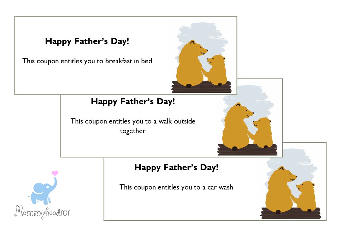 fathers day gift coupons for fun