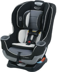Graco Extend2fit Convertible Car Seat Platinum