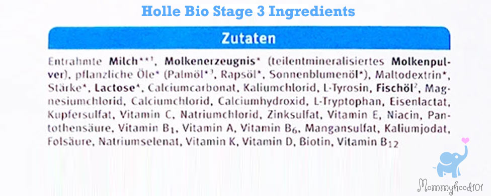 holle bio stage 3 formula ingredients