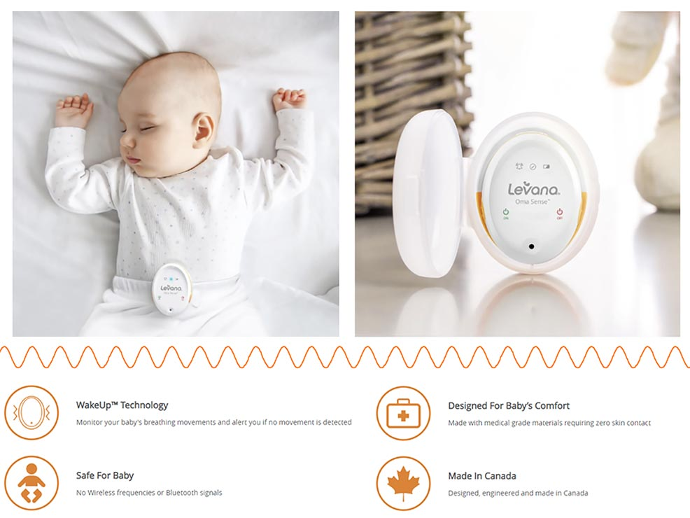 review of the levana oma sense baby breathing monitor