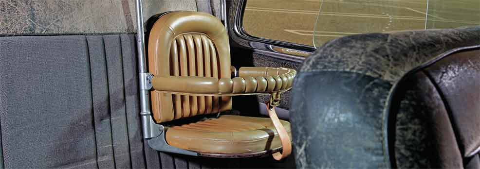 vintage old unsafe car seat