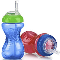 best sippy cup nuby no-spill cup with flex straw